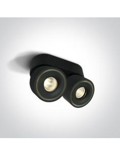 Spot LED Psaru 2 punktowy regulowany czarny oprawa 12208LA/B/W - OneLight