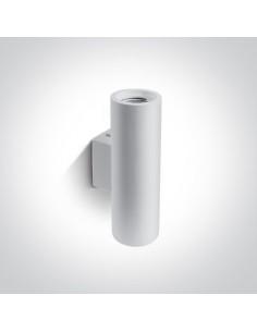 Kinkiet gipsowy tuba 2 punktowa Melia biała GU10 60054 - OneLight