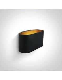Kinkiet czarno złoty 1 punktowy Glafki 60056/B - OneLight