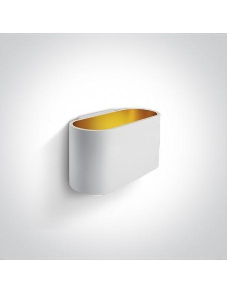 Kinkiet 1 punktowy biało złoty Glafki 60056/W - OneLight