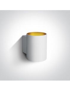 Kinkiet 1 punktowy biało złoty Glafki 2 6017/W - OneLight
