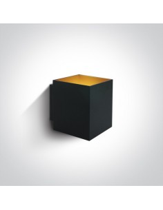Kinkiet nowoczesny Trikorifo czarno złoty 6017A/B - OneLight