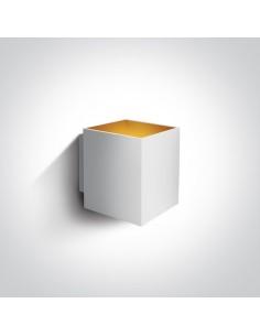 Kinkiet nowoczesny Trikorifo biało złoty 6017A/W - OneLight