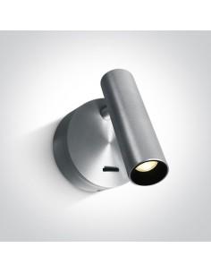 Kinkiet regulowany LED 3W Dokimio minimalistyczny aluminium 65738/AL/W - OneLight