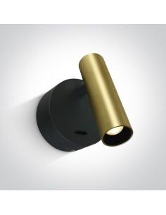 Kinkiet minimalistyczny LED Dokimio 3W regulowany mosiądz 65738/BBS/W - OneLight