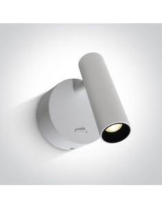 Kinkiet minimalistyczny LED Dokimio biały regulowany 3W 65738/W/W - OneLight