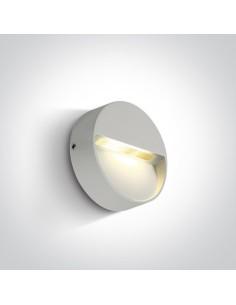 Oprawa elewacyjna LED IP54 3W Platonas biała 67359/W/W - OneLight