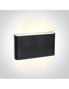 Kinkiet elewacyjny LED IP54 Koutsi 2 punktowy antracyt 67376A/AN/W - OneLight