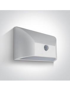 Kinkiet elewacyjny LED biały Ziria czujnik ruchu IP65 67396A/W/W - OneLight