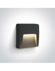 Oprawa elewcyjna LED 6W Lycuria 2 antracyt kwadratowa IP65 67418/AN/W - OneLight