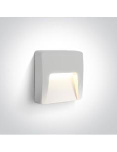 Oprawa elewacyjna LED 6W Lycuria 2 kwadratowa IP65 biały 67418/W/W - OneLight