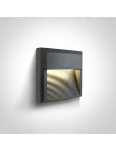 Oprawa elewacyjna LED kwadratowa Mavra 8W IP65 antracytowa 67430A/AN/W - OneLight