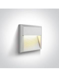 Oprawa elewacyjna LED biała Mavra 8W kwadratowa IP65 67430A/W/W - OneLight