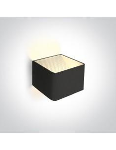 Kinkiet LED Geraki 6W czarny kwadratowy 67466A/B/W - OneLight