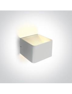 Kinkiet LED 6W Geraki biały minimalistyczny 67466A/W/W - OneLight
