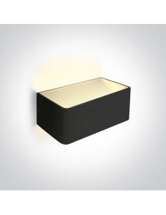 kinkiet LED 6W Geraki 2 minimalistyczny czarny 67466B/B/W - OneLight