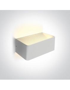 Kinkiet nowoczesny LED Geraki 2 biały 6W 67466B/W/W - OneLight
