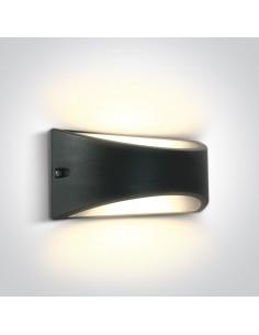 Kinkiet elewacyjny LED Oleni 10W IP54 antracyt 2 punktowy 67474/AN/W - OneLight