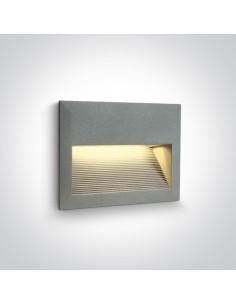 Oprawa elewacyjna LED Kalliani 2W szara 68016/G/W - OneLight