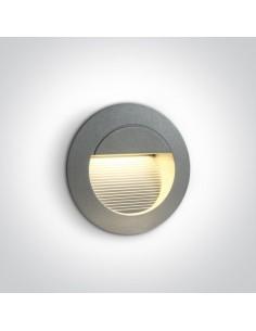 Oprawa elewacyjna okrągła LED 1,4W Servos IP54 szara 68022/G/W - OneLight