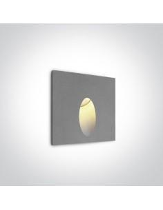 Oprawa elewacyjna LED Kapsas 3W szara IP54 schodowa 68032/G/W - OneLight