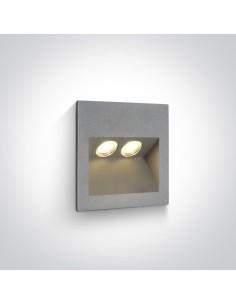 Oprawa elewacyjna LED Raftis 2 punktowa szara IP65 2W 68046/G/W - OneLight