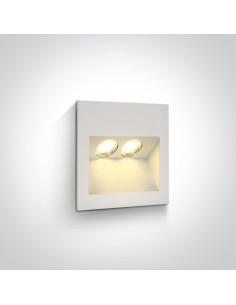 Oprawa elewacyjna LED Raftis 2 punktowa 2W biała IP65 68046/W/W - OneLight