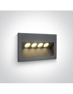 Oprawa elewacyjna LED 4 punktowa 4W Raftis IP65 antracyt 68048/AN/W - OneLight