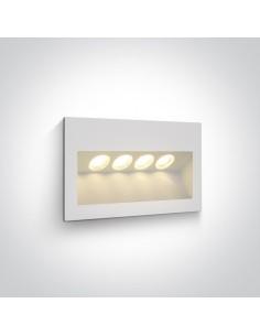 Oprawa eleawcyjna LED Raftis 4W IP65 biała 4 punktowa 68048/W/W - OneLight