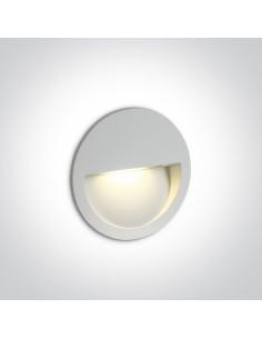 Oprawa elewacyjna okrągła LED Manolada 3W biała IP65 68068/W/W - OneLight
