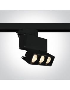Oprawa LED 12W Elliniko do szynoprzewodu 3-fazowego czarna 65306BT/B/W - OneLight
