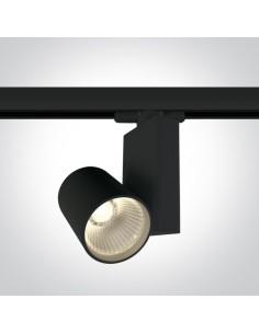 Lampa LED 15W czarna 4000K Bevino do szynoprzewodu 3-fazowego 65611NT/B/W - OneLight