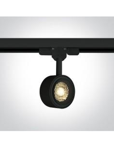 Oprawa LED 8W Kinigos 3000K do szynoprzewodu 3-fazowego czarna 65644T/B/W - OneLight