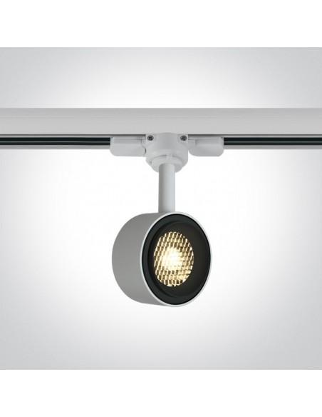Lampa LED 8W Kinigos 3000K do szynoprzewodu 3-fazowego biała 65644T/W/W - OneLight