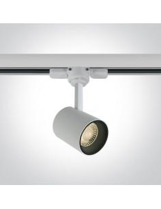 Lampa LED Lampiri 8W biała do szynoprzewodu 3-fazowego 65646T/W/W - OneLight
