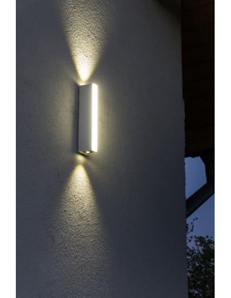 Kinkiet elewacyjny 3 punktowy LED 6W Tin biały M1401 W IP54 - Su-ma