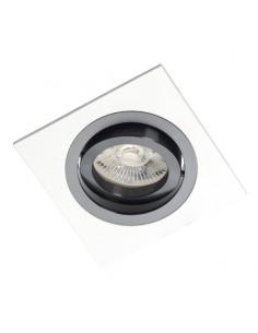 Oprawa podtynkowa regulowana Alcazar 541.WB biało czarna oczko - Lumifall