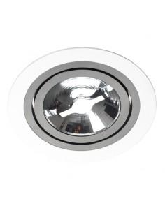 Oprawa podtynkowa regulowana Alcazar 140.WB biało czarne oczko GU10 - Lumifall