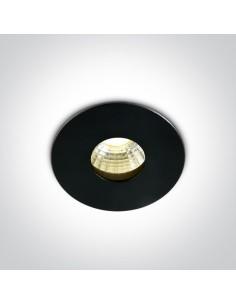 Oprawa podtynkowa LED Larnaka okrągła czarna mała 10103DE/B/W - OneLight