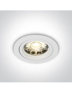 Oprawa podtynkowa biała okrągła Pirgos GU10 10105/W - OneLight