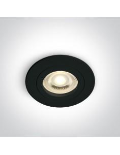Oprawa podtynkowa czarna oczko Perisa GU10 wpust 10105A1/B - OneLight