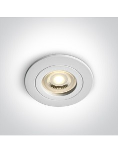 Oprawa podtynkowa biała Perisa wpust oczko GU10 10105A1/W - OneLight