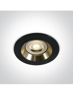 Oprawa podtynkowa Jalia czarno złota GU10 oczko 10105ALG/B/GL - OneLight