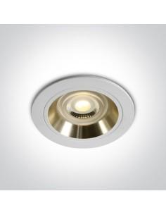 Oprawa podtynkowa biało złota Jalia oczko GU10 10105ALG/W/GL - OneLight