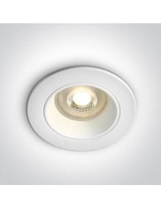 Oprawa podtynkowa oczko GU10 Lisos białe okrągłe 10105D3/W - OneLight