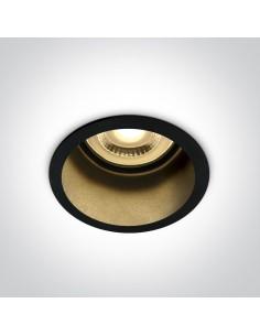Oprawa podtynkowa czarna Ormos oczko orkągłe wpust 10105D8/B/B - OneLight