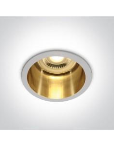 Oprawa podtynkowa biało złota Ormos okrągła oczko 10105D8/W/GL - OneLight