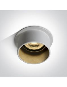 Oprawa podtynkowa tuba GU10 Tholos czarno biała 10105D9/W/B - OneLight
