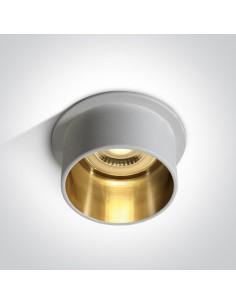 Oprawa podtynkowa tuba Tholos GU10 biało złota 10105D9/W/GL - OneLight