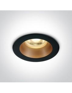 Oprawa podtynkowa GU10 Kanawi czarny mosiądz 10105M/B/BS - OneLight